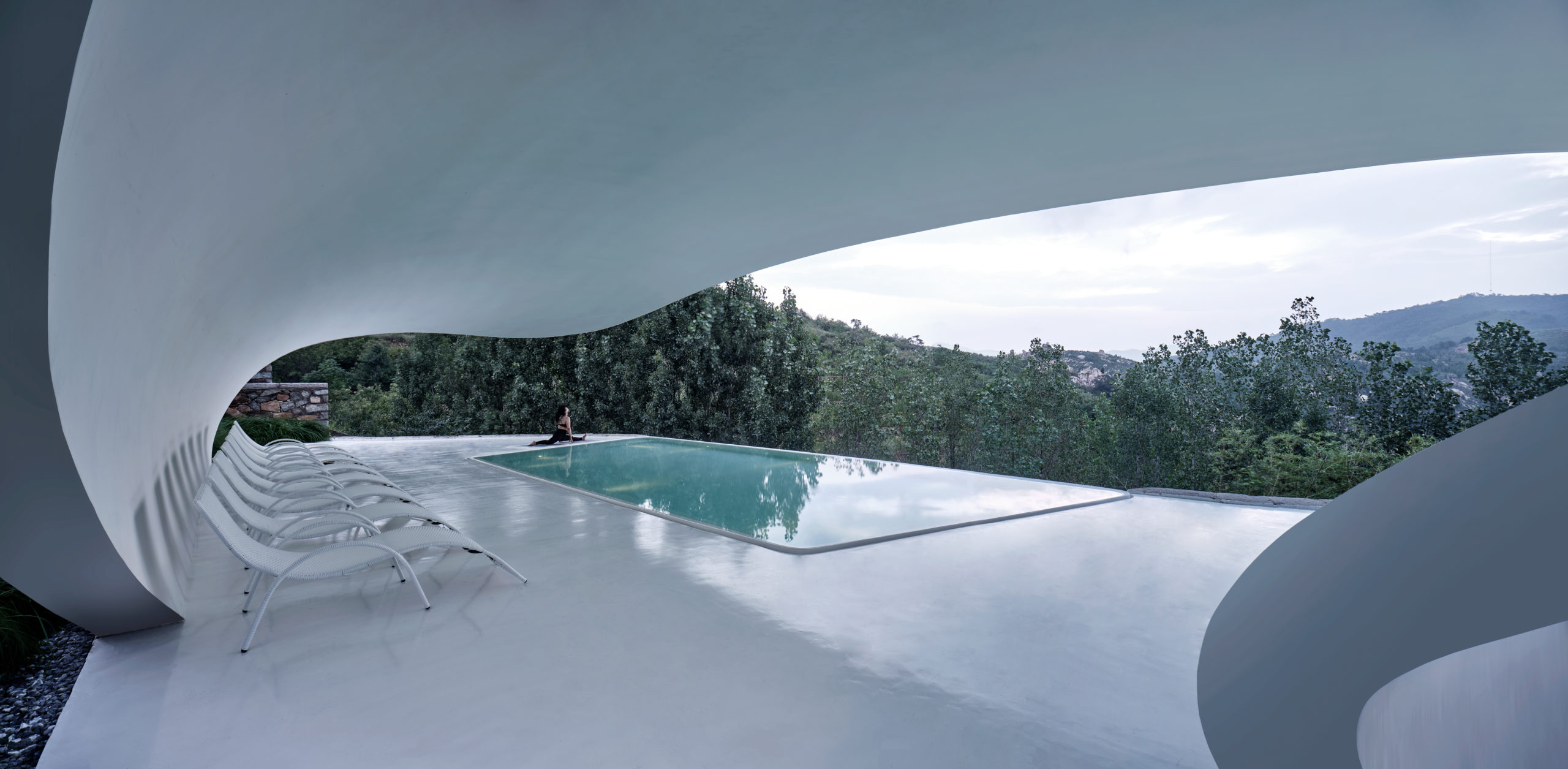 Jiunvfneg Bubble Pool and Supporting Facilities on Mount Tai by line+, Tai'an, China
